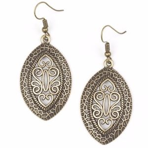 NWT Free with Bundle Tribal Tribute Brass Earrings